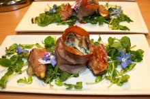 Fig Stuffed With Dolcelata And Wrapped In Parma Ham
