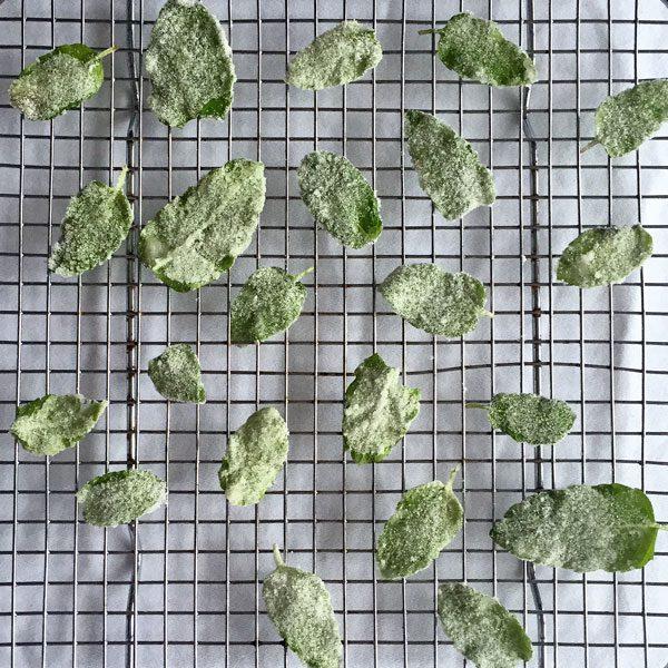 Crystalised Mint Leaves