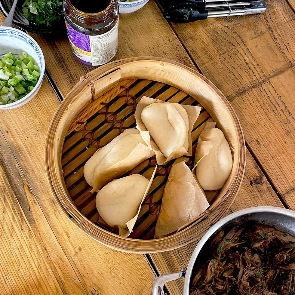 Light And Fluffy Steamed Bao Buns