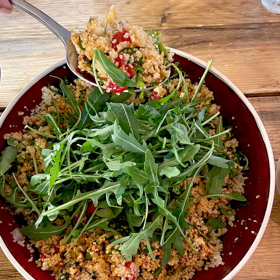 Herby Harissa Couscous Salad