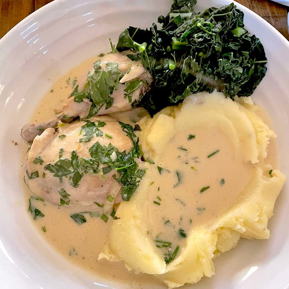 Mustard And Herb Poached Chicken