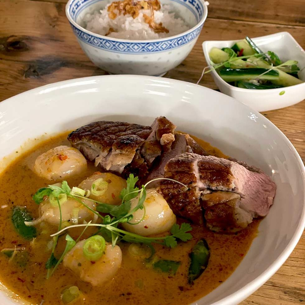 Thai Duck And Lychee Curry