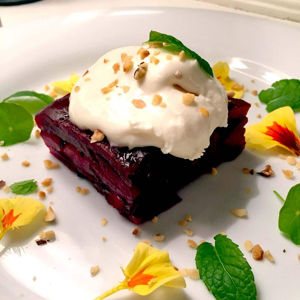 Beetroot Terrine With Whipped Goats Cheese