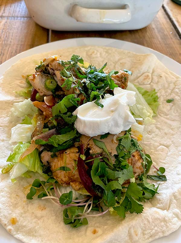 Chicken Shawarma Served In A Pitta Wrap