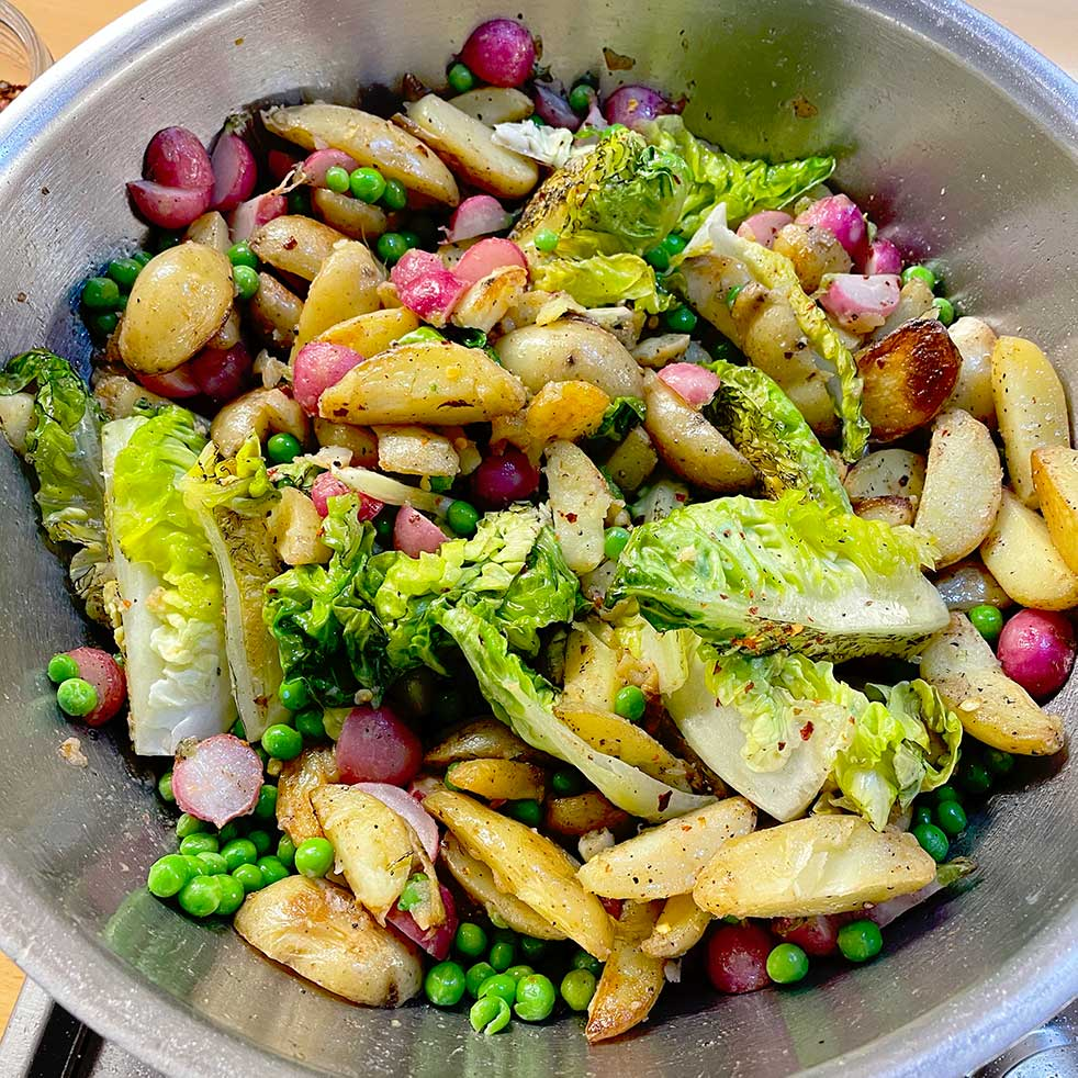 Sautéed Spring Vegetables